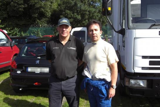 Noel With Race Engineer Chris Smith - Phoenix Park Dublin 2012