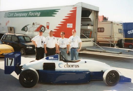 Irish Formula Europa Win with Cliff Dempsey Racing - Mondello Park 2001